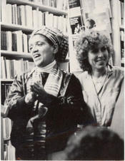 With Dagmar Schultz at a reading in Zurich, 1986 / Freie Universität Berlin, University Archive, NL Lorde, Sig. 106