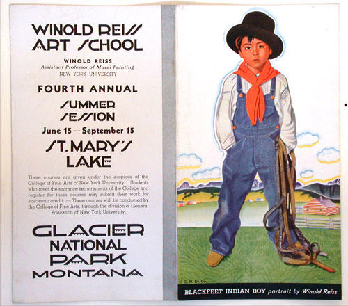 W. Reiss, Advertisement for the Winold Reiss Art School.