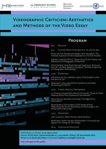 Videographic Criticism Poster