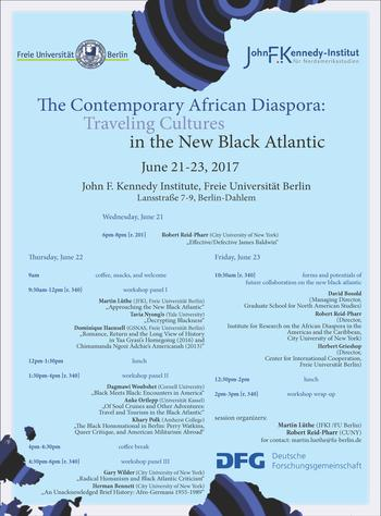 "Program Workshop ""The Contemporary African Diaspora"""