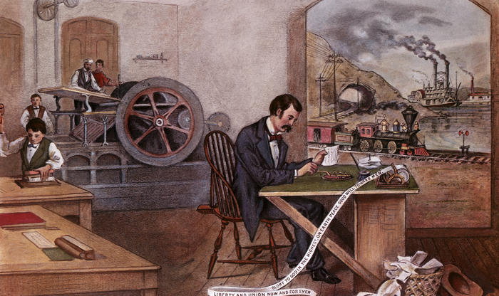 "Currier & Ives ""The Progress of the Century"" (1876)"
