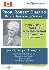 Mabel Timlin and the Transformation of Canadian Economics - Poster