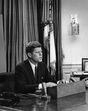 President John F. Kennedy Delivers Address Regarding Desegregation of University of Alabama